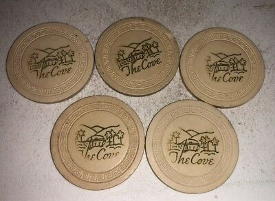 The Cove Lot of 5 $1 Casino Chip Palm Springs California 2.99 Shipping