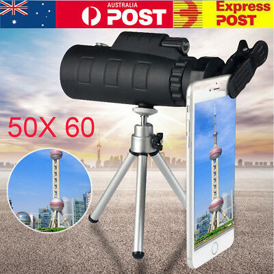 50X60 Zoom Optical Telephoto Camera Clip On Telescope Lens Mobile Smart Phone