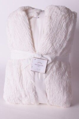 NWT Pottery Barn Furry Knit robe without hood large L robe