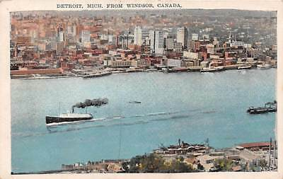 Detroit, Mich From Windsor, Canada1930PostcardC014605