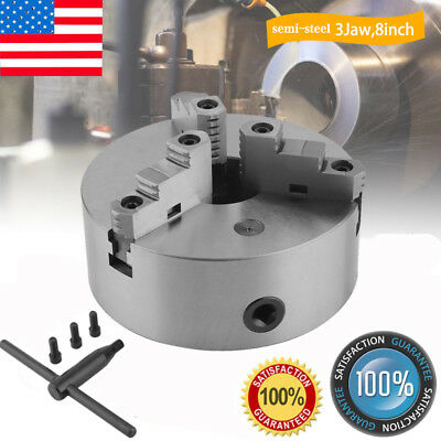 """8"""" ( 8 Inch) 3 Jaw Self Centering Lathe Chuck Front Mount in Prime Quality MAX"""