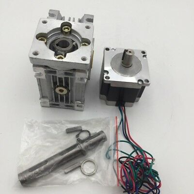 2ph Stepper Motor Nema23 L56mm 3A + 60:1 Worm Gearbox RV30 Speed Reducer CNC Kit