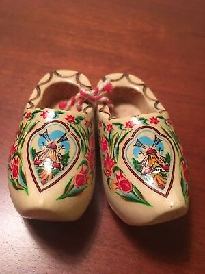 Dutch Wooden Shoes Collectibles 2 Inches long from the Netherlands