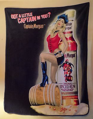 EXTREMELY RARE PIN-UP GIRL Captain Morgan Official Crew Gear Spiced Rum Blanket