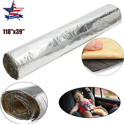 "118""x39"" Aluminum Foil Sound Deadener Car Heat Shield Insulation Deadening  Mat"