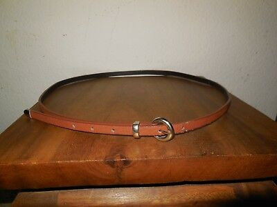Brown Thin Silver Point Accent Bohemian Hippie Belt Medium