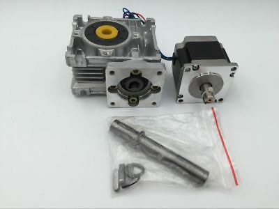 54Nm Max. 30:1 Nema23 Worm Gearbox L76mm Stepper Motor 2phase 3A 4Wire CNC Kit