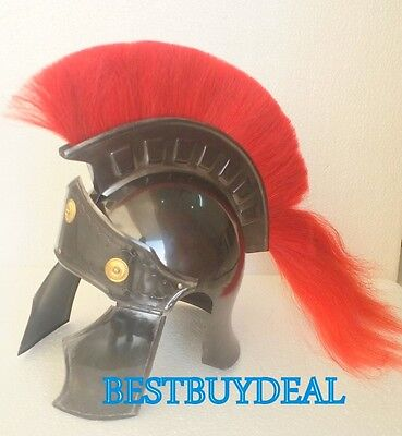 Collectibles Greek Greco Roman Medieval Armor Helmet-Spartan W/ Red Plume Gift