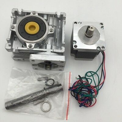 L76mm Stepper Motor Nema23 4Wire + Worm Gearbox Speed Reducer CNC Router Kit