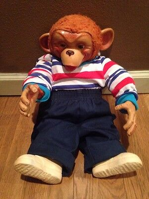 Monkey Zippy Howdy Doody Chimp/ Rubber Face, Hands, And Shoes. And Bendable Arms