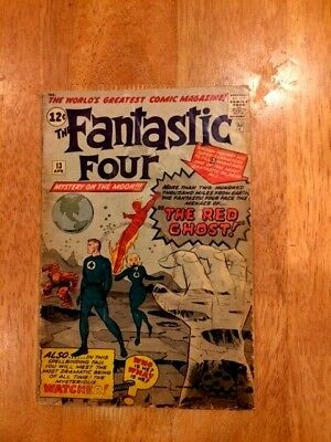 FANTASTIC FOUR #13(Apr 1963 Marvel) Intro The WATCHER! 1st App RED GHOST!