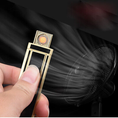 COOL ! Electric Windproof Flameless Lighter USB Dual Arc Cigarette Rechargeable