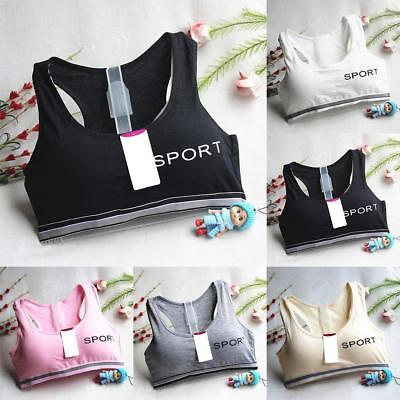 Girls Underclothes Sport Girl Children Comfy  Bra Underwear Bow Lingerie Tops
