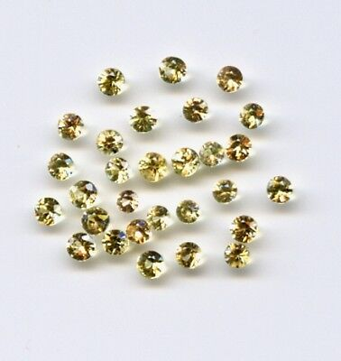 Yellow Ceylon Sapphire Round 1mm 1.3mm 1.4 1.5mm 1.7mm VS Loose Natural Gemstone