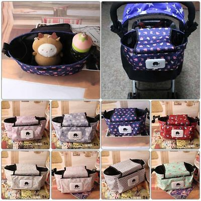 Universal Baby Trolley Storage Bag Stroller Cup Carriage Pram Buggy Organizer ER