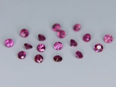 Ruby Burma Round 1.6mm 1.7mm 1.8mm 1.9mm 2mm Loose Natural Gemstone VS Best 1pc