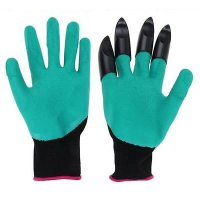 Gardening glove Garden Gloves for Digging & Planting with 4 AEE Plastic Claw EE