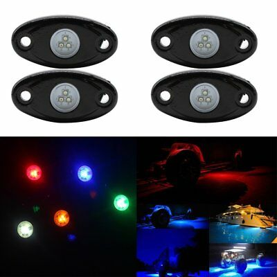 RGB LED Rock Lights Bluetooth RC LED Neon Light Kit for Car Boat Trail Rig Lamp