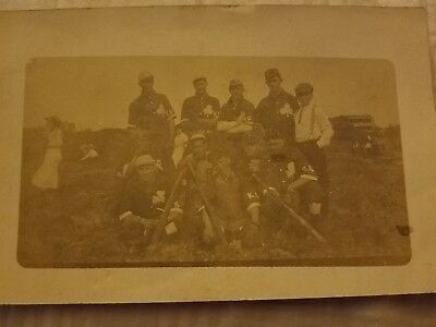 old vintage antique real baseball team postcard  Kansas City Shamrocks? 1913