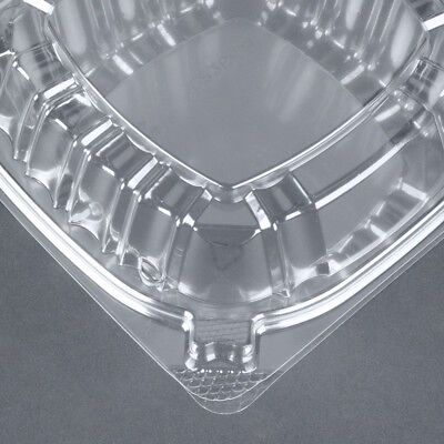 Food Container Small Clear Plastic Hinged for Sandwich Salad Cake 50 Pieces.