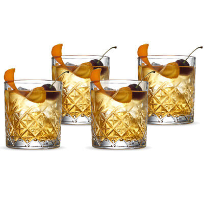 NEW S & P Winston Double Old Fashioned Glass Set 4pce