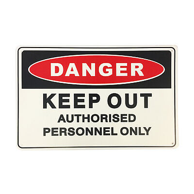 Brutus KEEP OUT SAFETY SIGN 450x300mm Withstand Harsh Outdoor Climates