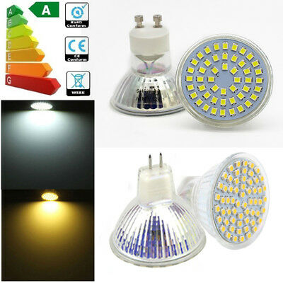 12x 8x LED GU10 MR16 LED 5W 6W SMD WARMWEIß KALTWEIß LAMPE BIRNE LICHT SPOTLIGHT