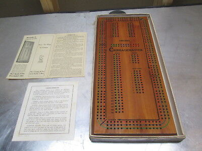 Vintage Drueke Grand Rapids No. 1950 Play A Way Cribbage Board In Box