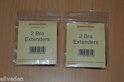 Emma-Jane Maternity Bra Extenders 4 Pack Black Brand New 50mm Widths