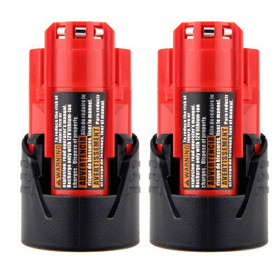 2X 12V Lithium Battery For Milwaukee 48-11-2401 M12 Fuel Impact Drill 2.5AH