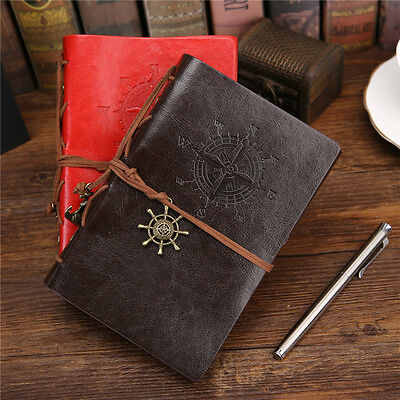Faux Leather Vintage Loose Blank Paper Notebook Notepad Journal Diary Sketchbook