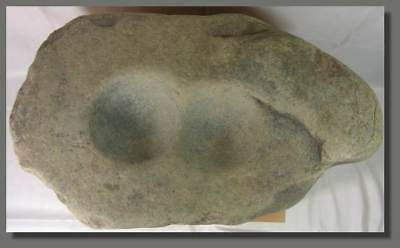 RARE DOUBLE CUPULES STONE, 57cm/22inches, NEOLITHIC, SAHARA, 5000 years