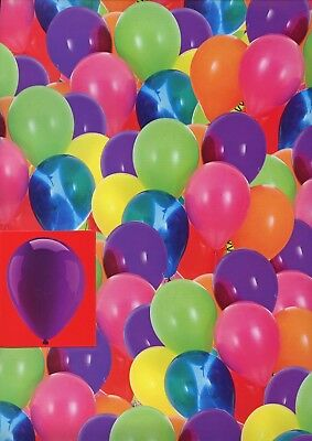 HAPPY BIRTHDAY 2 SHEETS OF GIFT WRAP BALLOONS 2 TAGS