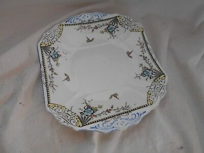 Truly Stunning TRUE ART DECO Web FENTON 25cms HAND PAINTED Square Butterfly