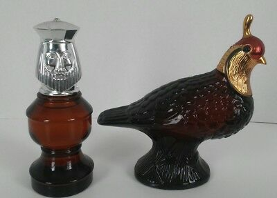 Vintage 1970s Avon Men's Aftersave Bottles Quail King Chess