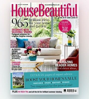 House Beautiful Magazine August 2016 (BRAND NEW BACK ISSUE)