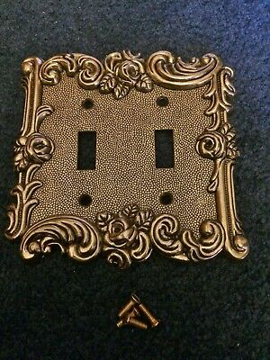 Vintage 1967 American Tack Double Gang Light Switch Plate 60TTA