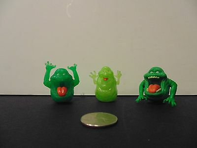 GHOSTBUSTERS CLASSIC & NEW 2016 MYSTERY ECTO MINIs SLIMER LOT OF 3! 2 GLOW