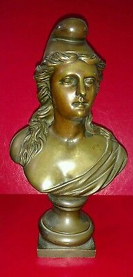 Antique French Bronze of Marianne Allegory of the French Revolution and Reason