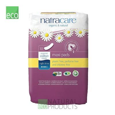 Natracare Organic Cotton Ultra Maxi Pads 10 Night Time