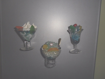 Lot of 3  Vintage Mixed Drink Magnets