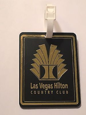 Rare Las Vegas Hilton Country Club Golf Bag Tag - Las Vegas, Nevada - A Beauty!