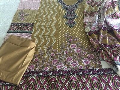 Pakistani designer Printed  Linen COLLECTION UN-STITCHED SHALWAR KAMEEZ SUIT