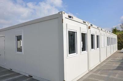 Portable Building Modular Office, 7 Bay 20' x 56' / 6m x 17.5m open plan office