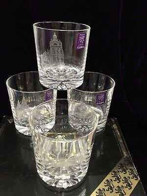 4 X Boxed Whisky Glasses Aberdeen ,st Machars ,kings College,o'balgowie