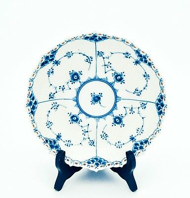 Bowl on foot #1018 - Blue Fluted - Royal Copenhagen - Full Lace - 2:nd Quality