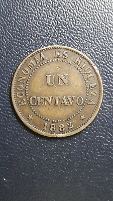 Coin Copper Chile 1 cent year 1882 High Grade, excellent condition