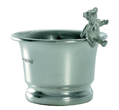 Hallmarked Silver Teddy Bear Egg Cup. Sterling Silver Teddy Bear Egg Cup