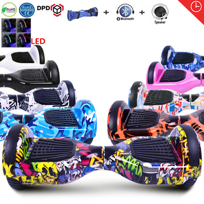 6,5/8,0/10Zoll Bluetooth Hoverboard Elektro Scooter E-Balance Roller mit Tasche