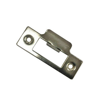 Strike Plate - Nickel Plated  For Use With Tubular Mortice Door Lock / Latch